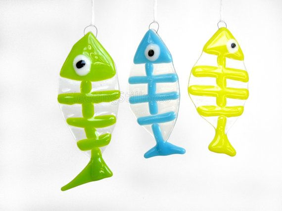 Fish Sun Catcher Ornament Fused Glass Sun Catcher Handmade