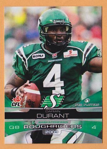 Darian Durant CFL card 2009 Extreme #61 Saskatchewan Roughriders North Carolina Tar Heels