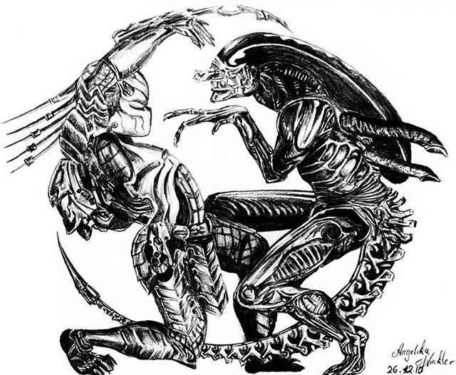 слово рисунки хищник против чужого считается