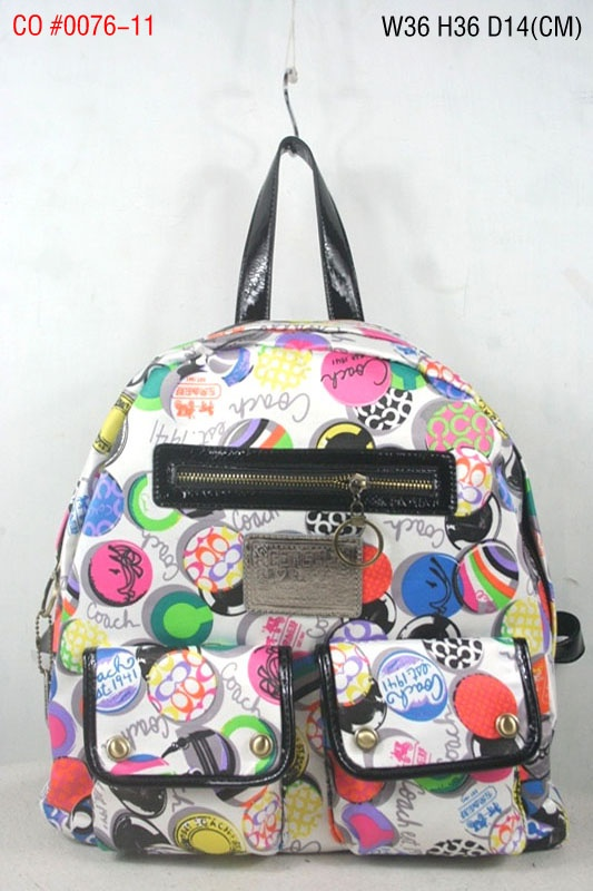 Coach Signature Multi Pocket Backpack Art