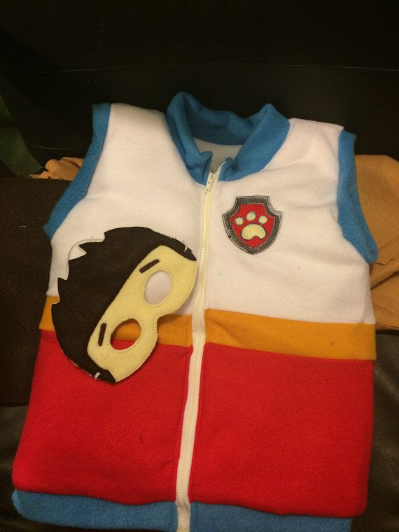 Paw patrol ryder vest costume add mask by mothergoosedesigns