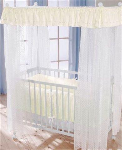 LEIPOLD Himmelseng med madrass og krem sengetøy. Frifrakt Kr 4999