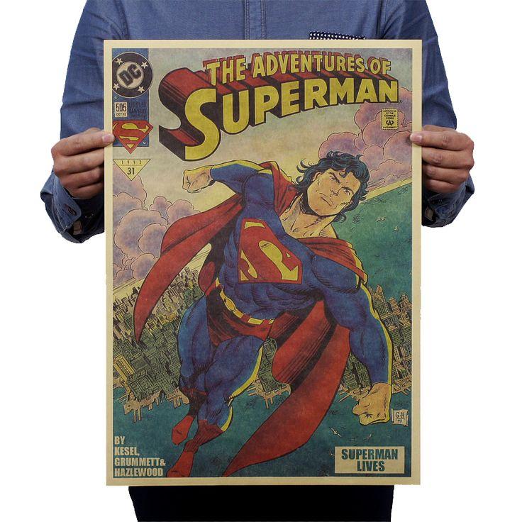 Superman Vintage Style Poster (53*35.5cm) DC World Shop http://dcworldshop.com/superman-vintage-style-poster-5335-5cm/    #suicidesquad #superhero #dcuniverse #bataman #superman