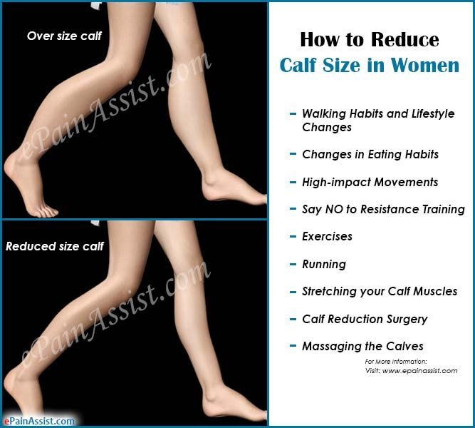 how to get rid of big calves