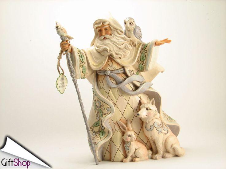 Jim Shore Babbo Natale con animali del bosco cm 26 69,00