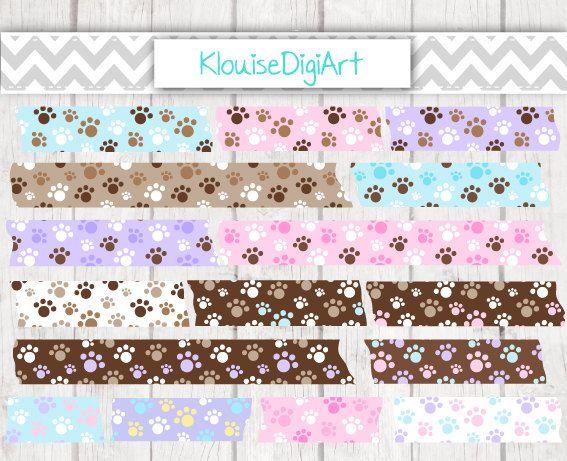 Azul, rosado, púrpura y marrón cachorro perro pata impresiones cinta Washi imprimible Digital imágenes prediseñadas  Usted recibirá 16 archivos PNG. 300 DPI. Los archivos están comprimidos en un archivo Zip.  Me gustaría de color cambios sin cargo extra. Mandame una conversación si desea cambios de color antes de comprar (como los archivos son de descarga inmediata).  -------------------------------------------  20% de descuento código promocional - 20PERCENT No hay compra mínima. Introduzca…