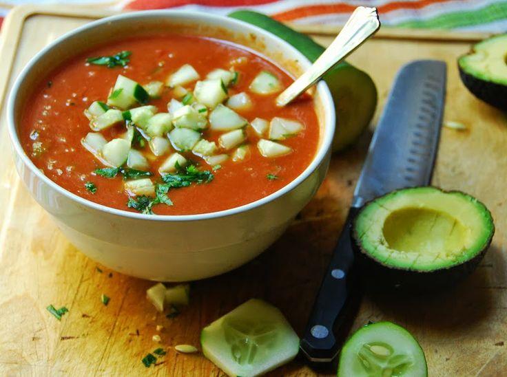 Gazpacho - sub cucumber chips/ribbons. #learnspanish