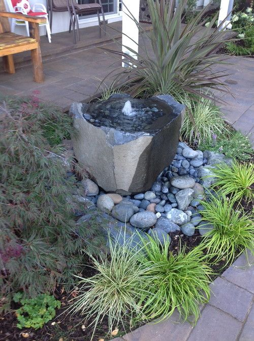 Photo of a contemporary landscape. — Houzz bird's bath — charvhttp://www.houzz.com/projects/292843/orinda-hills-craftsman-entry