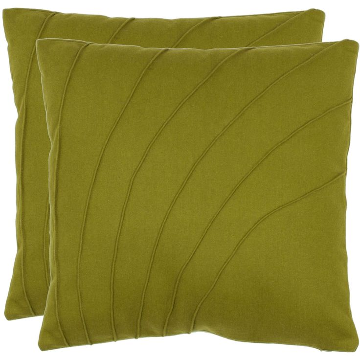 Accentuate the look of your living room furniture with this stylish set of two decorative pillows. Crafted from polyester and wool with a chic floral design, these 18-inch green pillows offer an elegant look that will complement your decor.