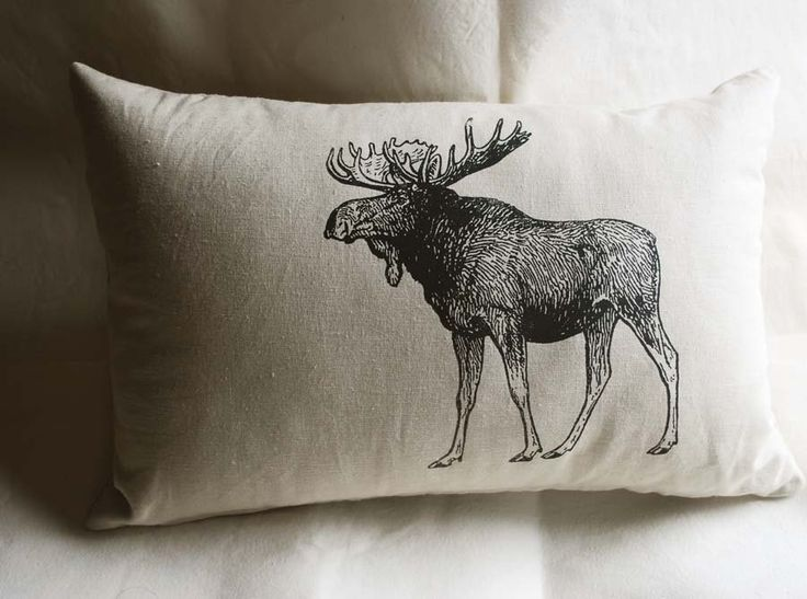 Canadian Moose Pillow. $45.00, via Etsy.