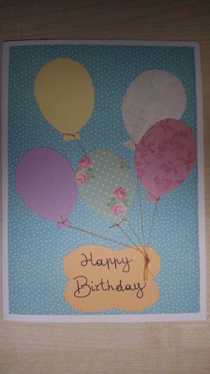 card birthday baloon bigliettino compleanno palloncini