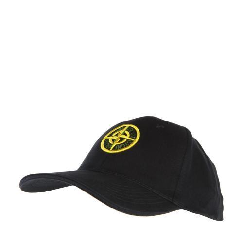 Stone Island Men's Badge Logo Navy Blue Baseball Cap
