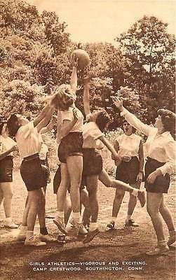 Southington Connecticut CT 1950s Girls Camp Crestwood Antique Vintage Postcard - Moodys Vintage Postcards - 1