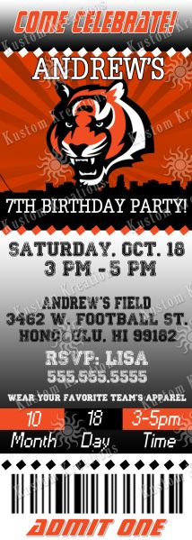nfl-cincinnati-bengals-ticket-birthday-invitation https://www.fanprint.com/licenses/cincinnati-bengals?ref=5750