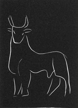 Artwork by Henri Matisse - 1944 Pasiphae Series (Bull) - 1944, | Print | Lino | Artstack - art online