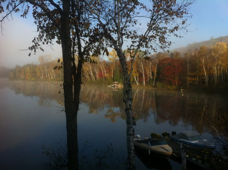 Fall colours in the mist.!! Photo by Kyal Stephen Smith. Dorset Ontario Canada.!Taken with IPhone 4.