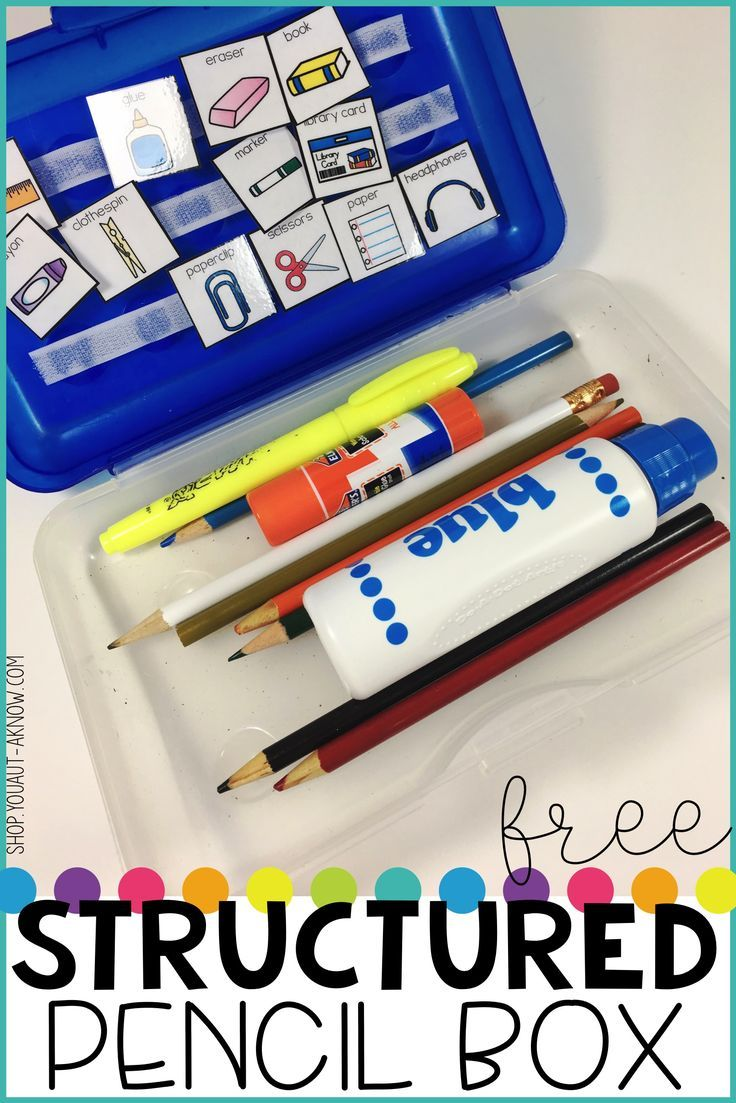 images about simply special teaching resources help students learn critical organizational skills this visually supported structured pencil box grab it