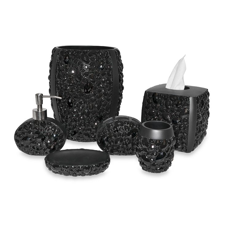 Gorgeous Black Bathroom Accessories From Bed Bath And Beyond