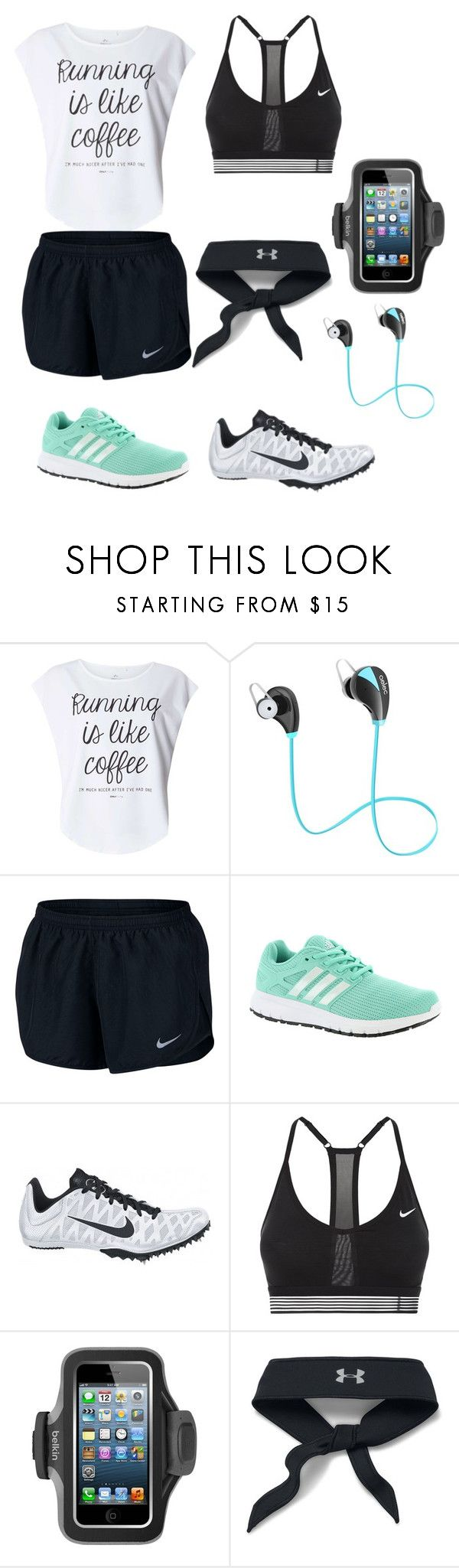 """Cross Country Outfit"" by neongirlz5 on Polyvore featuring Dorothy Perkins, NIKE, adidas, Belkin, Under Armour and country"