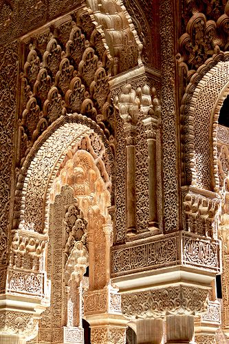 Alhambra Palace, Granada, Spain  --  pinned to Tudor because K of A briefly lived here when her parents conquered Granada in 1492 (during Henry VII's reign).