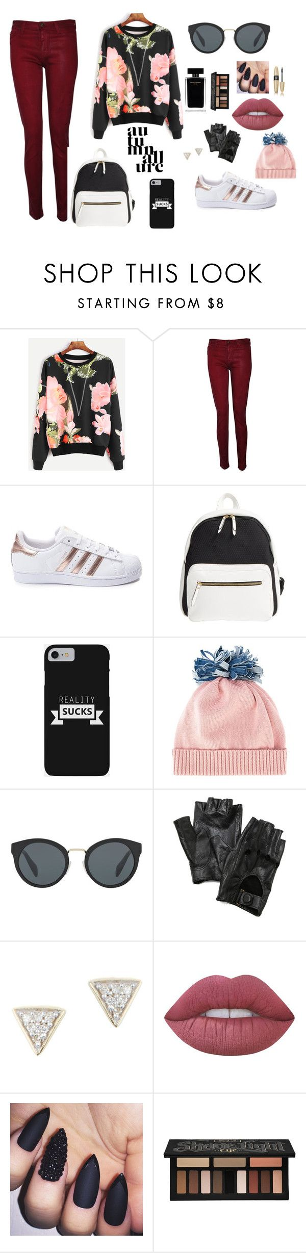 """""""University ."""" by red-cristal ❤ liked on Polyvore featuring Hudson, adidas, Poverty Flats, Federica Moretti, Prada, Carolina Amato, Adina Reyter, Lime Crime, Narciso Rodriguez and Kat Von D"""