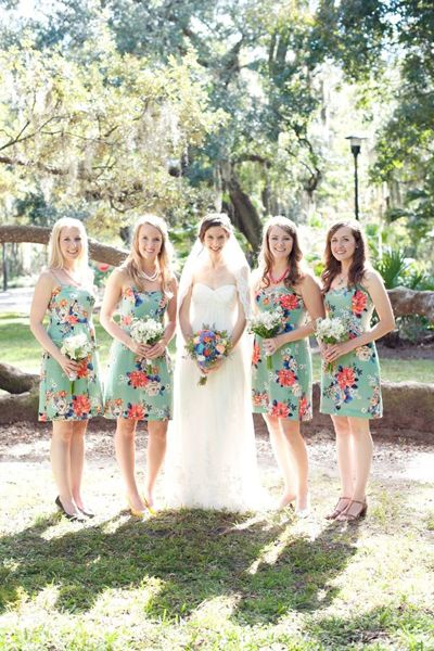 Real Weddings Jeannine And Jared S Florida Park Wedding Lovely Maids W Flowers Bridesmaid Dresses