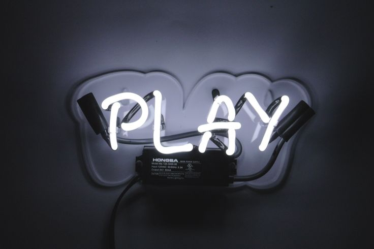 Everyone needs to play, even adults. Put it on the forefront of your mind without our 'Play' neon sign. Our neon glass is handcrafted and filled with a mixture of noble gasses, then electrified to cre