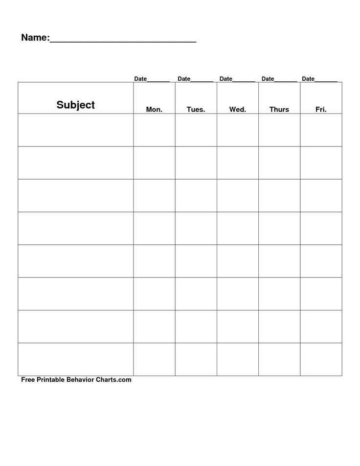 behaviour log template - free printable blank charts free printable behavior