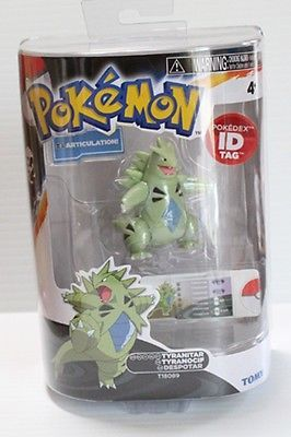 NIB POKEMON TYRANITAR POKEDEX ID TAGS FIGURE SEALED NINTENDO TOMY SERIES 2