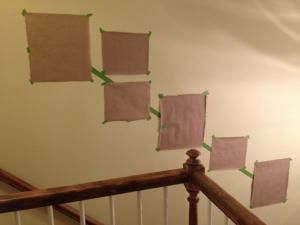 How to hang a photo gallery along a staircase - something to remember if I ever get around to hanging pictures on the staircase wall... by ofelia