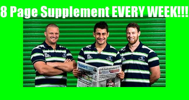 Irish Independent announced as 'official newspaper' 8 PAGE SUPPLEMENT EVERY WEEK!!!!!!!!!!!!!!!!!!!!!!!!!!!! THIS IS GETTING BIGGER EVERY SEASON CONNACHT RUGBY!!!!!!!!!!!!!!!!!!!!! now live on www.intouchrugby.com/connacht