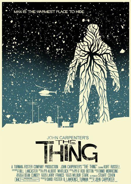 John Carpenter's The Thing vintage style 5X7 print. $8.00, via Etsy.