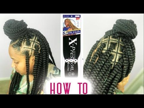 Spider Web Box Braids Tutorial - Step By Step ft RUWA Hair by Sensationnel [Video] - https://blackhairinformation.com/video-gallery/spider-web-box-braids-tutorial-step-step-ft-ruwa-hair-sensationnel-video/