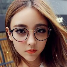2015 New Eyewear Eyeglasses Retro Metal Round Women Spectacles Frame Glasses Men Optical Myopia Frame Plain Glasses ocular(China (Mainland))