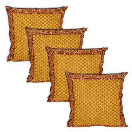 Amazon.com: Asian Décor Home Silk Pillowcases Artisan Crafted Set of 4 Pcs. Sofa CushionsPillowcasesCushion CoversHome Kitchens