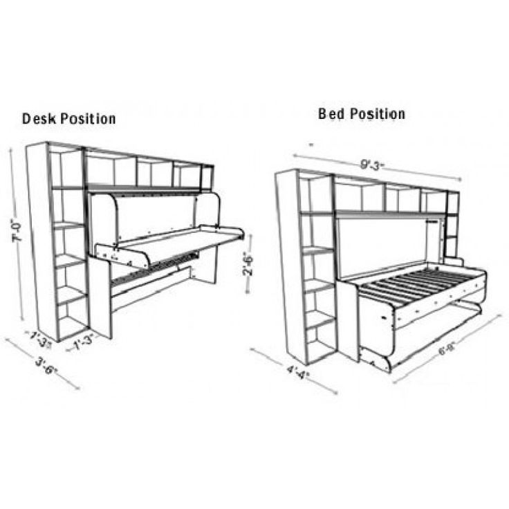 SingleTwin HiddenBed M1 Mechanism Kit For Splendid Ritzy Slim