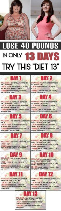 """LOSE 40 POUNDS IN ONLY 13 DAYS. TRY THIS """"DIET 13"""""""