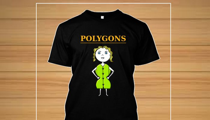 Camiseta original personagem Circy Familia Polygons