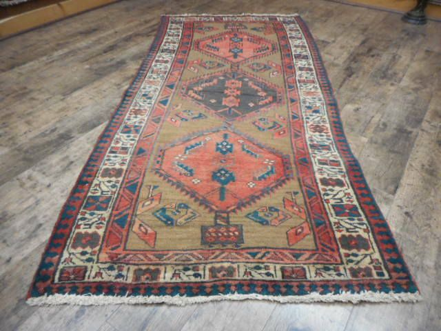 C1930 Veg Dye Antique Karache Serapi Heriz Viss 3 2x6 10 Estate