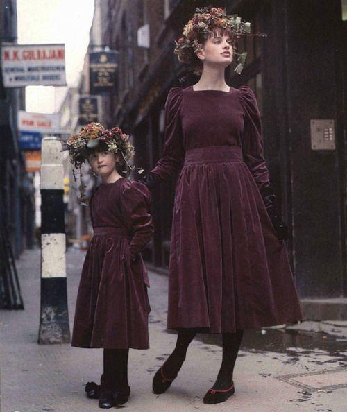 Vintage Laura Ashley dresses.