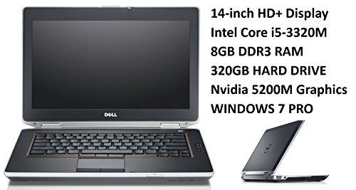 Introducing Dell Latitude E6430 Business Laptop PC 141Inch HD Display Intel Core i5 26GHz Processor 8GB DDR3 RAM 320GB HDD DVD Nvidia 5200M Windows 7 Professional Certified Refurbished. Great product and follow us for more updates!