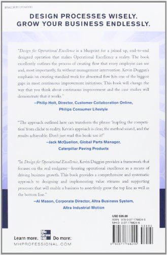 Design for Operational Excellence: A Breakthrough Strategy for Business Growth (Business Books)