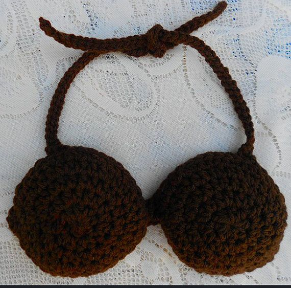 Crochet coconut bra - I know who could make me this! :)