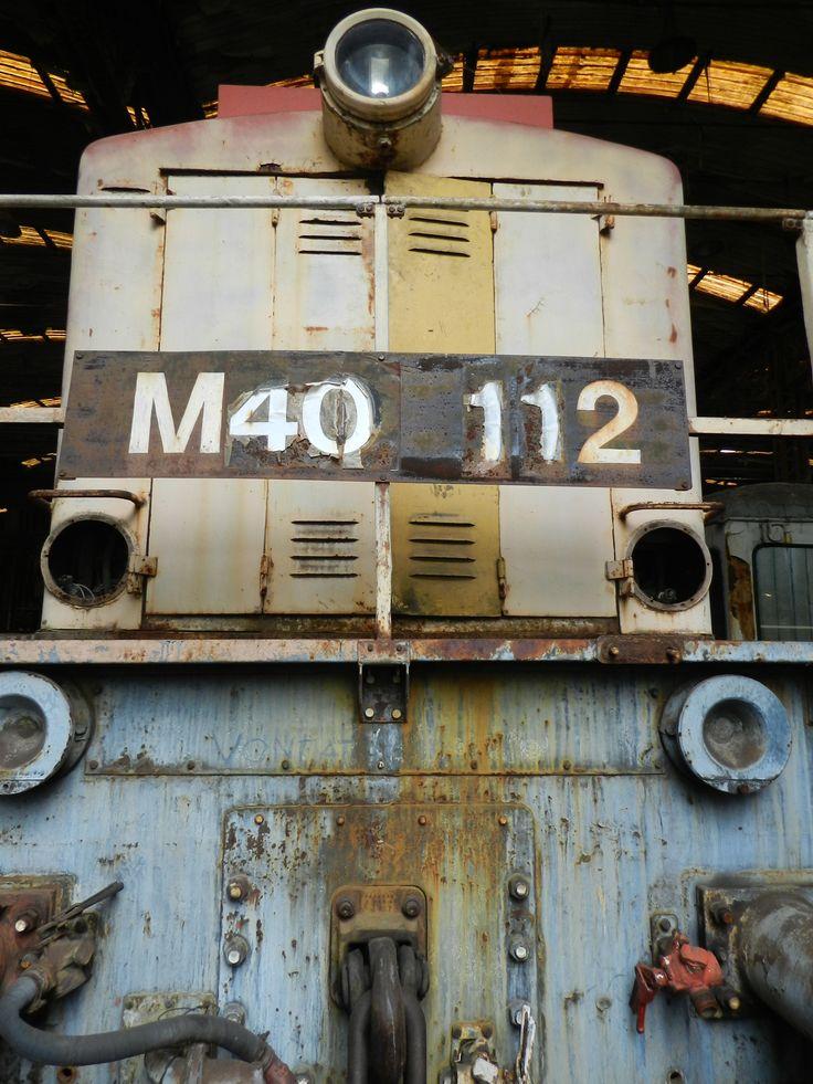 """M40-112 Szemtől-szembe a """"hosszabbik"""" végével... (Istvántelki főműhely - MÁV Nosztalgia)"""