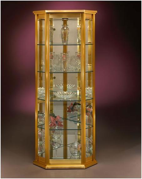 Elegant Modern Corner Curio Cabinet