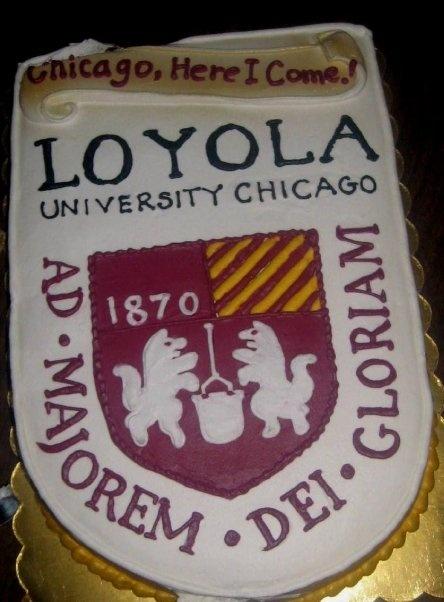 Loyola University Chicago Cake Loyola Acceptance Party