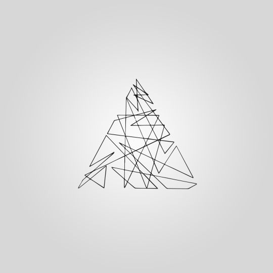 single line triangle