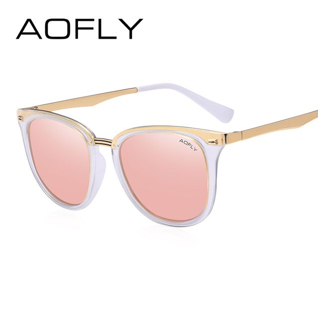 Lunettes de Soleil Femme Fashion Polarized Men Retro Polarized Glasses , Blanc Transparent