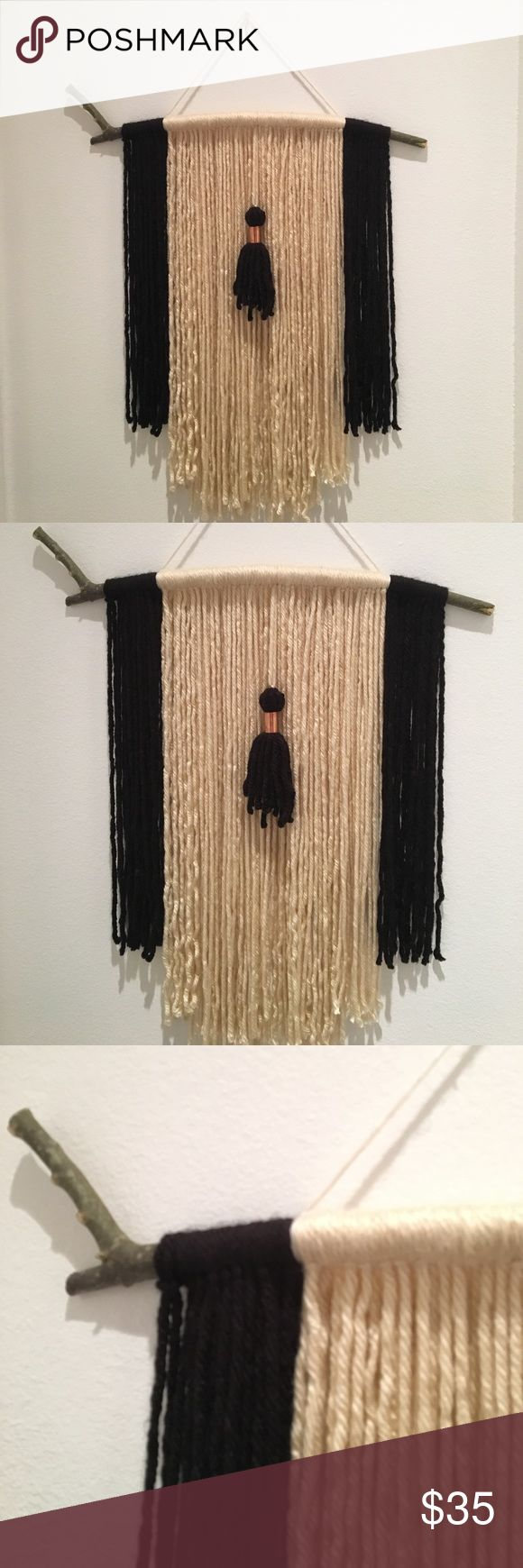 Boho Yarn Wall Art Handmade wall hanging with tassel/copper detail.       2ft W x 3ft L. *Not Free People, tagged for exposure* Free People Accessories