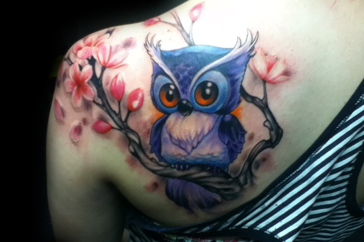 Beautiful! ~Owl~ that is so cute with beautiful cherry blossoms! Getting this done…